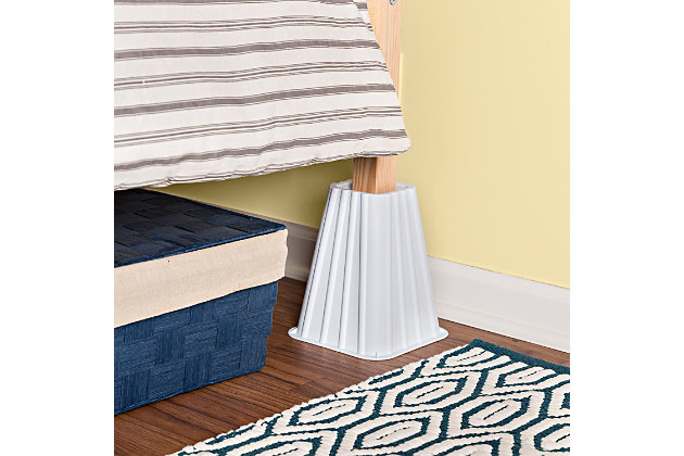 Honey Can Do 8 Square Bed Risers, How To Use Furniture Risers