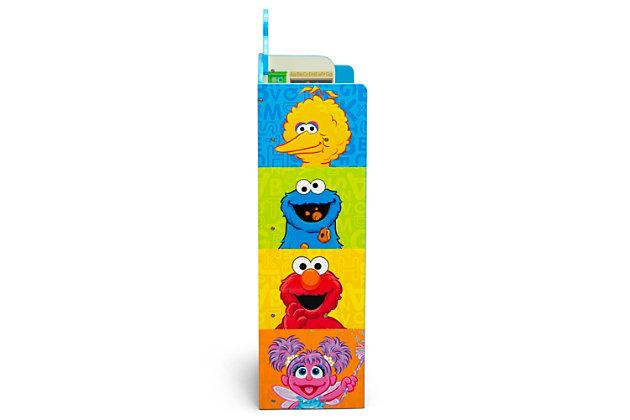 Delta Children Sesame Street Wooden Playhouse 4-shelf Bookcase For Kids, , large