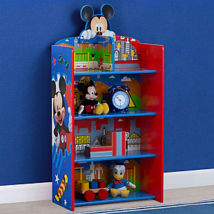 Delta Children Mickey Mouse Wooden Playhouse 4-shelf Bookcase For Kids, , rollover