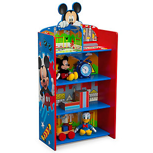 Delta Children Mickey Mouse Wooden Playhouse 4-shelf Bookcase For Kids, , large