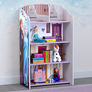 Delta Children Frozen II Wooden Playhouse 4-Shelf Bookcase for Kids, , rollover