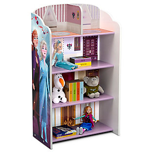 Delta Children Frozen II Wooden Playhouse 4-Shelf Bookcase for Kids, , large