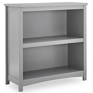 Delta Children Universal 2-Shelf Bookcase, Gray, large