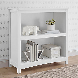 Delta Children Universal 2-Shelf Bookcase, White, rollover