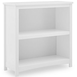 Delta Children Universal 2-Shelf Bookcase, White, large