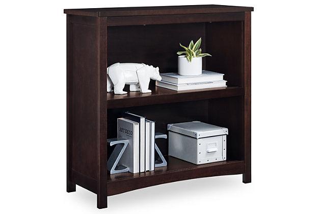 Delta Children Universal 2-Shelf Bookcase, Brown, large