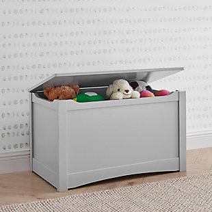 Delta Children Universal Toy Box, Gray, rollover
