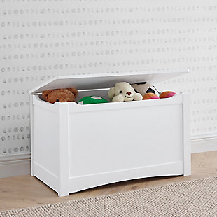 Delta Children Universal Toy Box, Bianca White, White, rollover