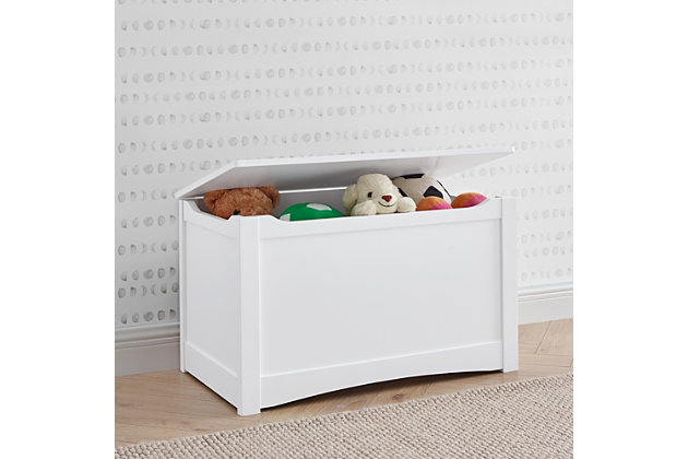 Delta Children Universal Toy Box, Bianca White, White, large
