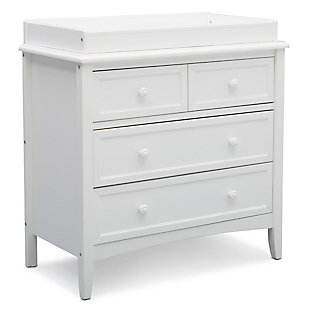 Delta Children Westminster 3 Drawer Dresser with Changing Top, White, large