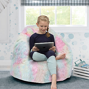 Delta Children Snuggle Foam Filled Chair, Tween Size, Tie Dye, , rollover
