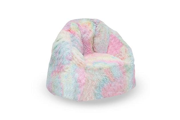 Delta Children Snuggle Foam Filled Chair, Tween Size, Tie Dye, , large