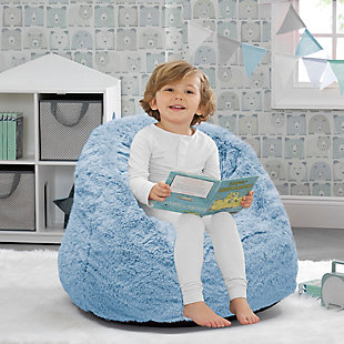 Delta Children Snggle Foam Filled Chair, Toddler Size, Sky Blue, rollover
