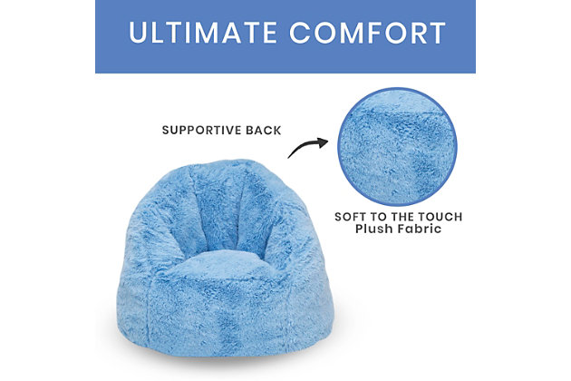 Delta Children Snggle Foam Filled Chair, Toddler Size, Sky Blue, large
