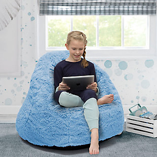 Delta Children Snuggle Foam Filled Chair, Tween Size, Sky Blue, rollover