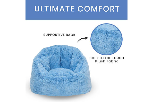 Delta Children Snuggle Foam Filled Chair, Tween Size, Sky Blue, large