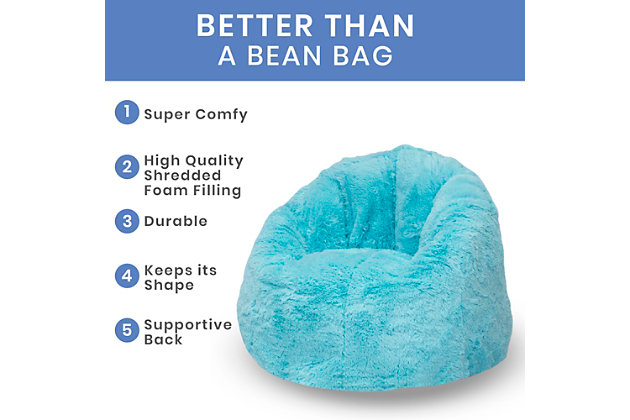 Delta Children Snuggle Foam Filled Chair, Tween Size, Aqua Blue, large