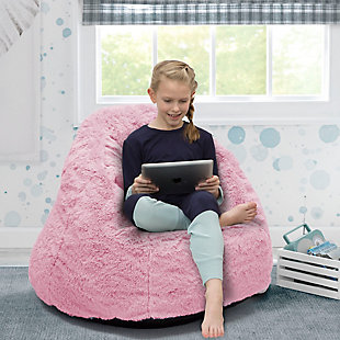Delta Children Snuggle Foam Filled Chair, Tween Size, Pink, large