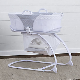 Delta Children 2-in-1 Moses Basket Bedside Bassinet Sleeper, , rollover