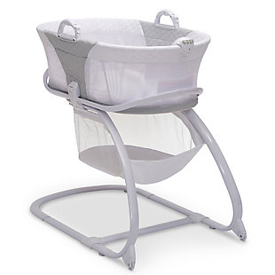 Delta Children 2-in-1 Moses Basket Bedside Bassinet Sleeper, , large