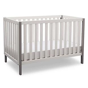 Delta Children Milo 3-in-1 Convertible Crib, White/Gray, large