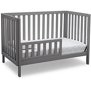 Delta Children Milo 3-in-1 Convertible Crib, Gray, large