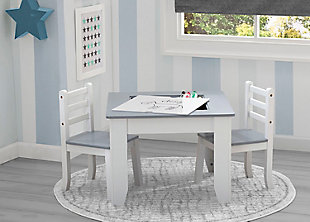 Delta Children Chelsea Wood Table and Chair Set, , rollover