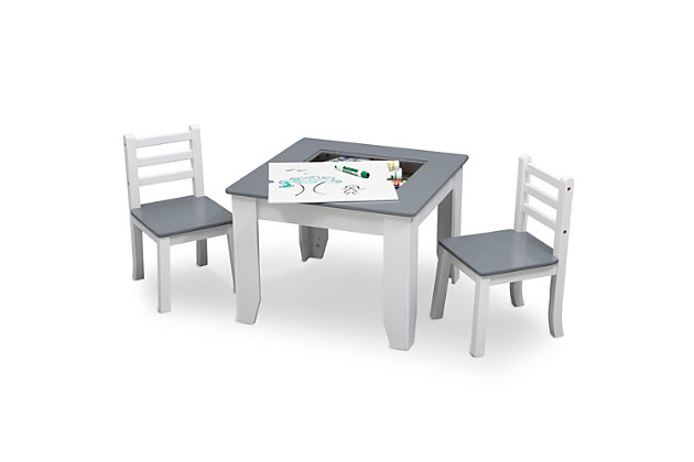Delta Children Chelsea Wood Table and Chair Set, , large