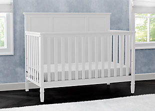 Delta Children Easton 4-in-1 Convertible Crib, White, rollover
