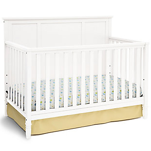 Delta Children Easton 4-in-1 Convertible Crib, White, large