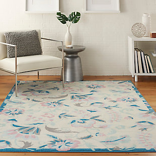 Nourison Kids Jubilant White Multicolor 6'x9' Cottage Area Rug, , rollover