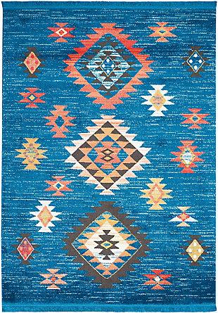 Nourison Kids Navajo Blue 7'x10' Large Rug, , large