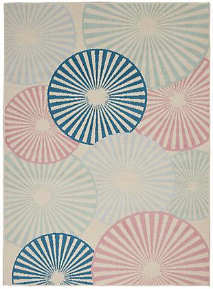Nourison Kids Grafix White and Blue 5'x7' Area Rug, Ivory/Pink/Blue, large