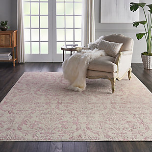 Nourison Kids Jubilant 9'x12' White and Pink Area Rug, , rollover