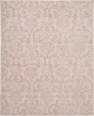 Nourison Kids Jubilant 9'x12' White and Pink Area Rug, , large