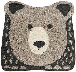 Nourison Kids Hudson Dark Grey 4' Freeform Area Rug, Gray, large