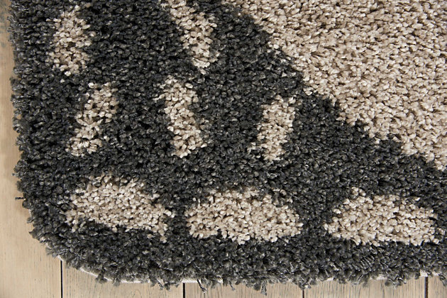 Nourison Kids Hudson Dark Grey 4' Freeform Area Rug, Gray, large