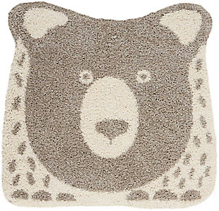 Nourison Kids Hudson Grey 4' Freeform Area Rug, Light Gray, large