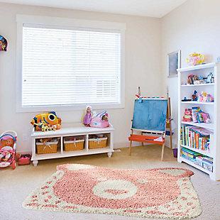 Nourison Kids Hudson Pink 4' Freeform Area Rug, Pink, rollover