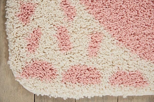 Nourison Kids Hudson Pink 4' Freeform Area Rug, Pink, large