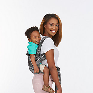Kolcraft Contours Cocoon Hybrid Buckle Tie 5-in-1 Baby Carrier, Black/Gray, large