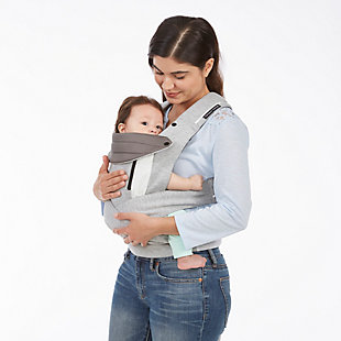 Kolcraft Contours Cocoon Hybrid Buckle Tie 5-in-1 Baby Carrier, Light Gray, rollover