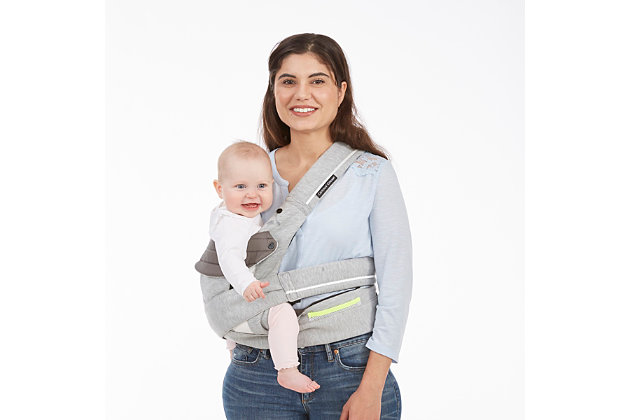 Kolcraft Contours Cocoon Hybrid Buckle Tie 5-in-1 Baby Carrier, Light Gray, large