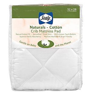 Kolcraft Sealy Naturals Cotton Crib and Toddler Mattress Pad, , large