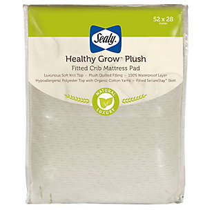 Kolcraft Sealy Healthy Grow Plush Waterproof Crib Mattress Pad, , large