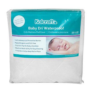 Kolcraft Baby Dri Waterproof Crib Mattress Pad, , large