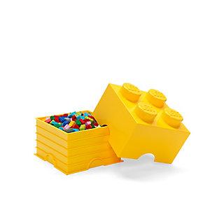 Lego ®  Storage Brick 4 - Yellow, Yellow, large