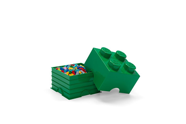 Lego ®  Storage Brick 4 - Green, Green, large