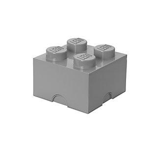 Lego ®  Storage Brick 4 - Gray, Grey, large