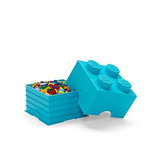 Lego ®  Storage Brick 4 - Azur Blue, Blue, large